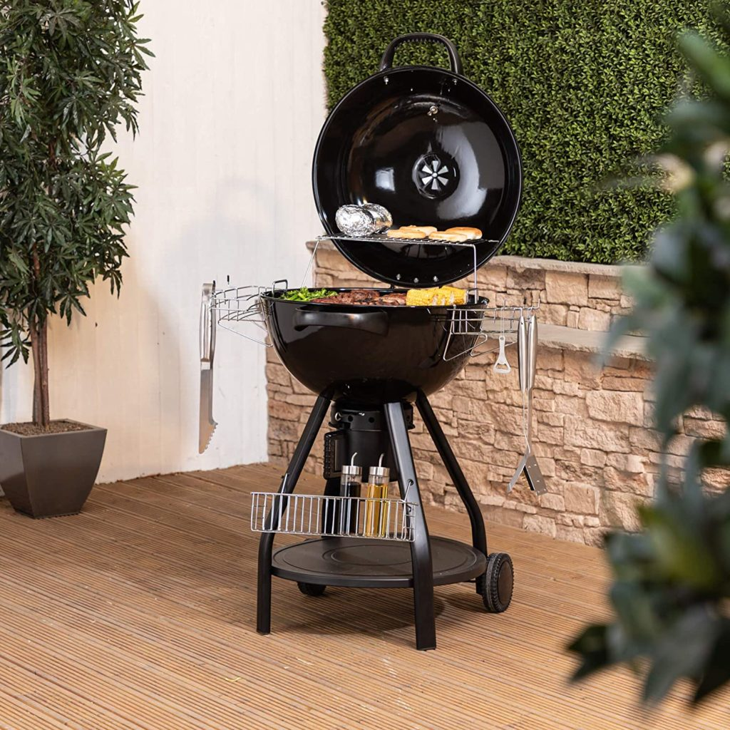Buy this Charcoal Barbecue with lid and wheels