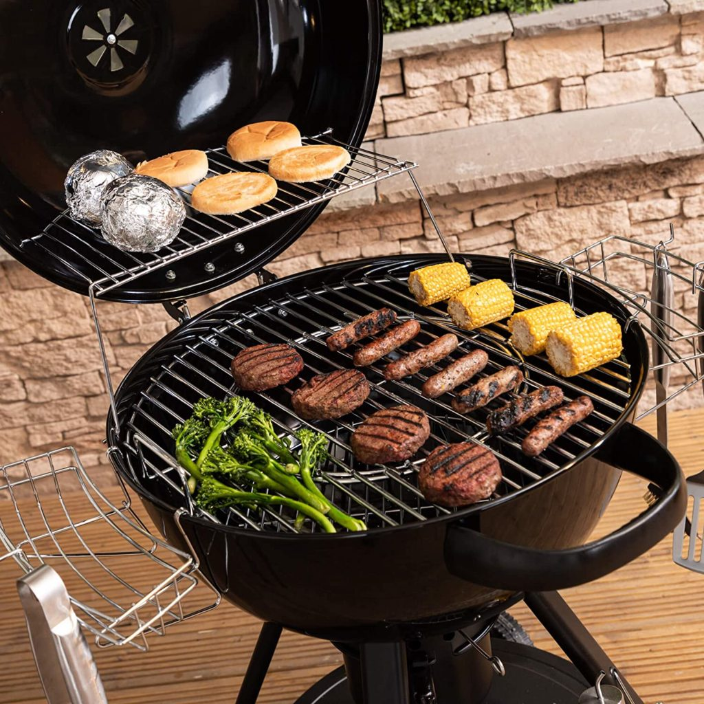 Healthy food with Charcoal bbq in your garden