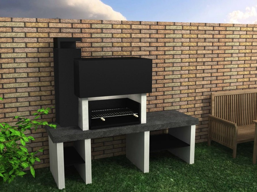 How to paint a brick bbq