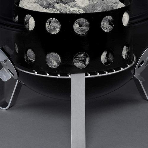 Smokey Mountain Weber charcoal section fuel deposit