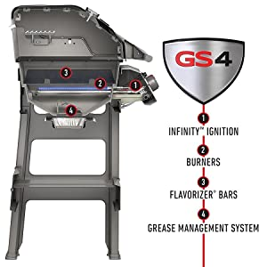 Weber Spirit gas bbq grill how to light GS4 light system for gas barbecue
