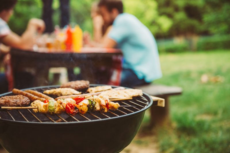 cast iron bbq perfect in a barbecue day