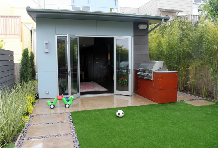 Which is the best location for a bbq garden backyard conservatory yard
