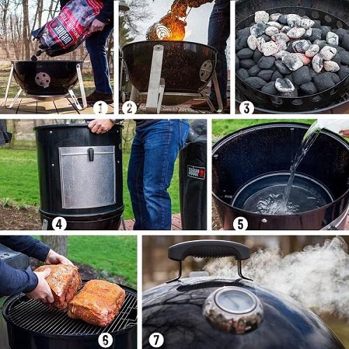 steps How to use a smokey mountain Weber